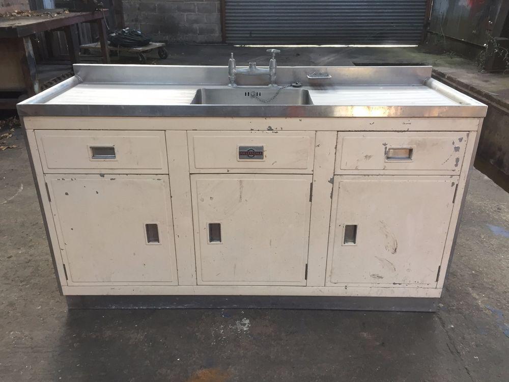 Vintage Retro 1950s Paul Millersdale Kitchen Sink Cabinet Unit Sink Cabinet Kitchen Kitchen Sink