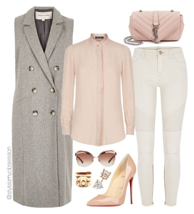 Untitled #1528 by dnicoleg on Polyvore featuring polyvore fashion style Reiss River Island Christian Louboutin Yves Saint Laurent Bowie Allurez Christian Dior clothing