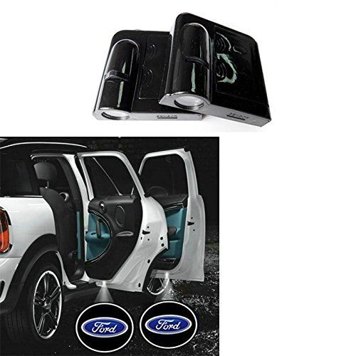 for all Ford For Ford Wireless Car Door Led Welcome Laser Projector,No Drill Type Logo Light For Ford