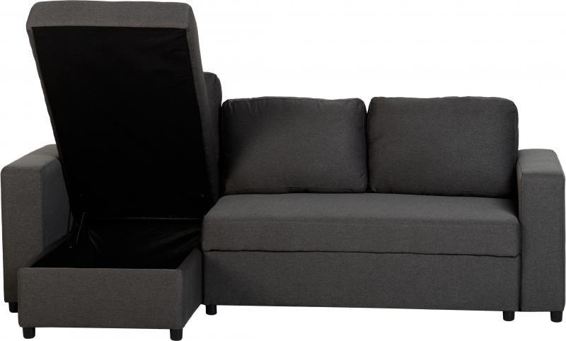 Seconique Dora Corner Sofa Bed In Dark Grey Fabric In 2020 Corner Sofa Bed Corner Sofa Bed With Storage Modern Sofa Bed