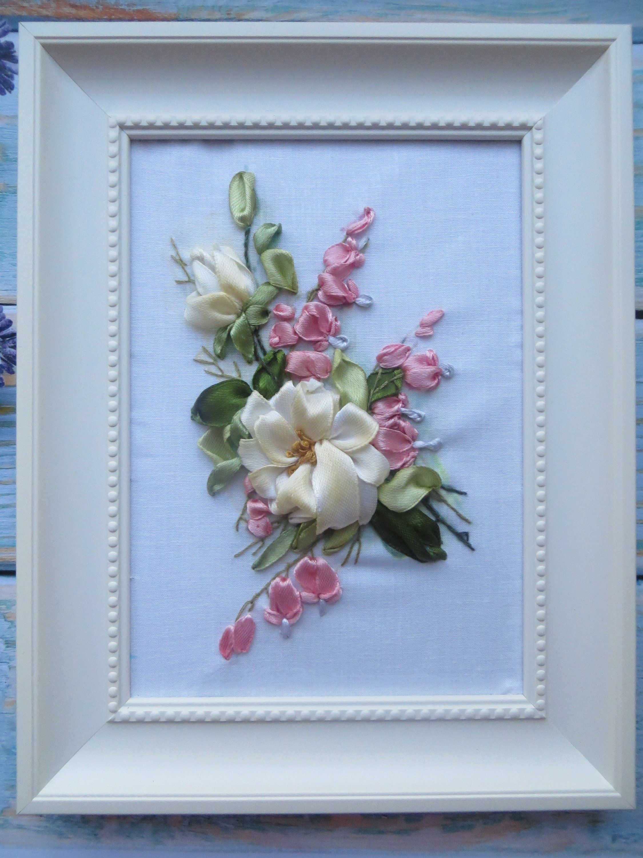 Pin By Gloria Leon On Manualidades Embroidery Art Silk Ribbon Embroidery Ribbon Embroidery