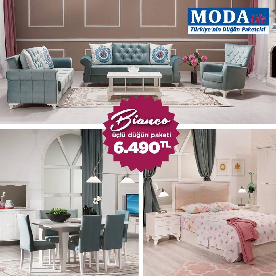 Modalife Mobilya Bianco Dugun Paketi Mobilya Modelleri Fiyatlari Ve Ev Dekorasyon Urunleri Mobilya Ev Dekorasyonu Evler