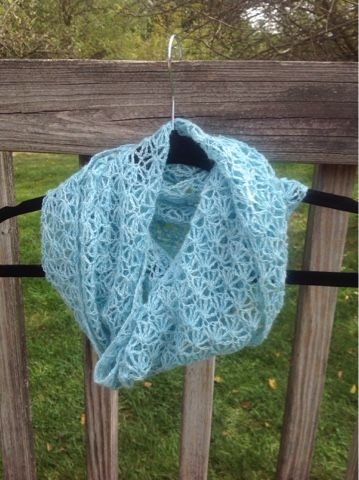 This Lace Weight Yarn Crochets Up Into A Delicate Lacy Shell