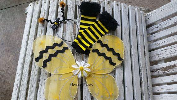 Bumble Bee Costume Baby Girls Halloween by MonkeyPantsPartyHats & Bumble Bee Costume Baby Girls Halloween by MonkeyPantsPartyHats ...