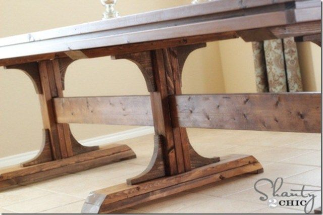 DIY Dining Table ~ Triple Pedestal Farmhouse images