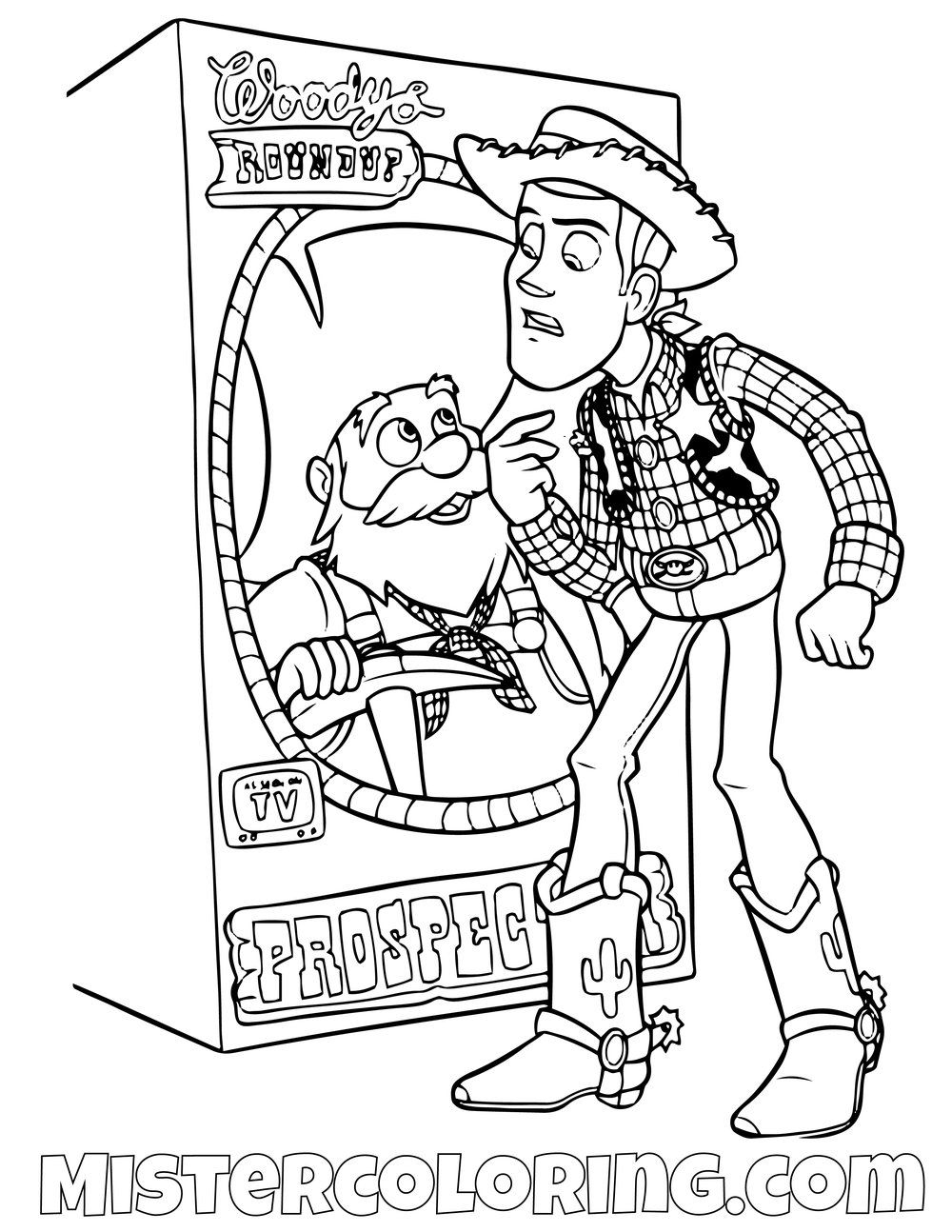 Toy Story Woody And Rex Coloring Page Toy Story Coloring Pages