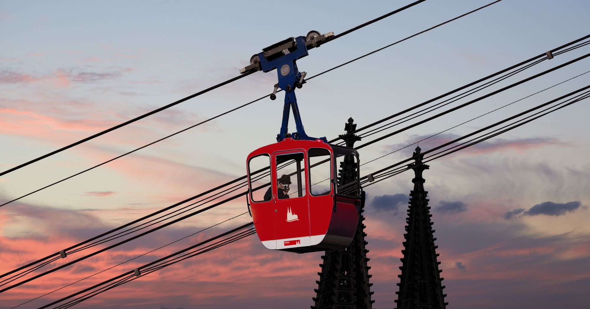 Kölner Seilbahn / #Cologne cable car ©KölnTourismus GmbH ...