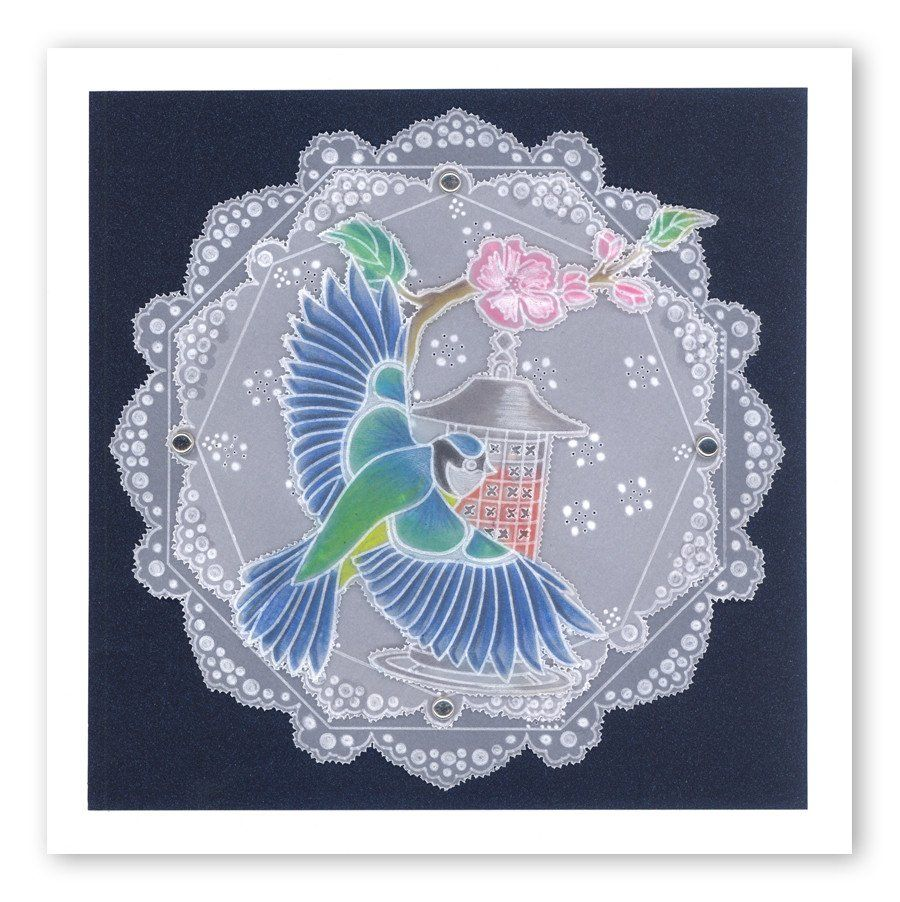 Linda/'s Dragonflies Groovi A5 Square Plate