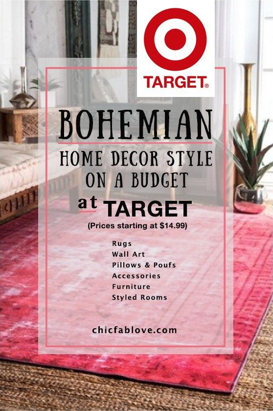 Bohemian Home Decor Style on a Budget at Target | Target rug, Decor ...