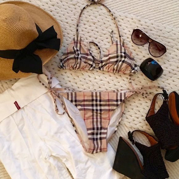 burberry plaid bikini