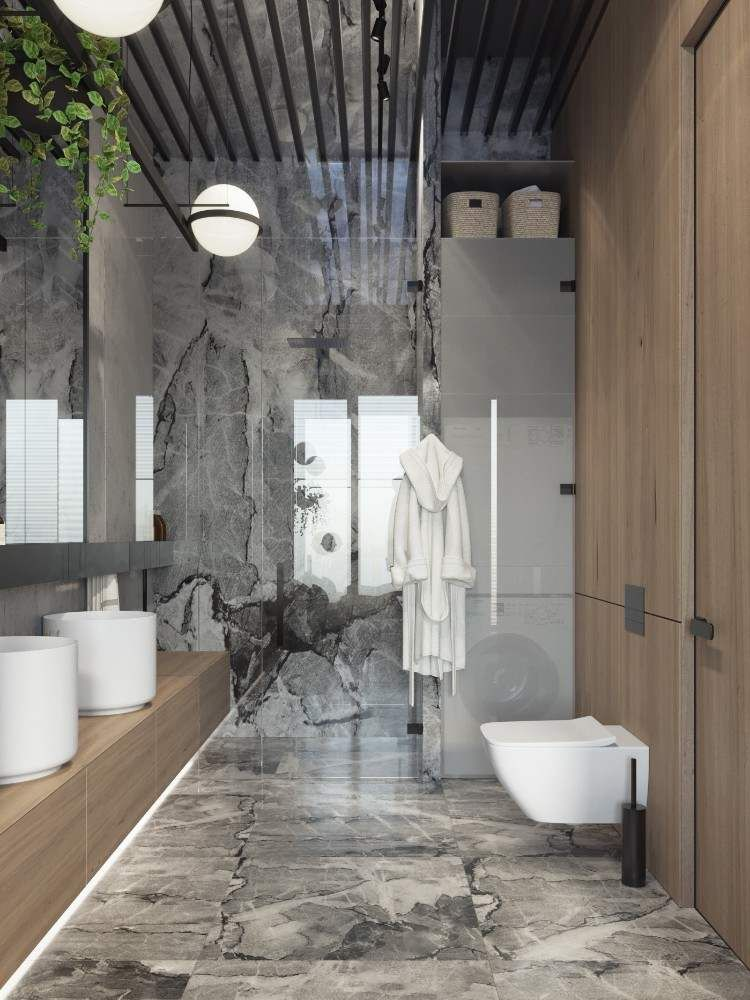 Salle de bain en marbre moderne en 40+ idées fraîches et ...