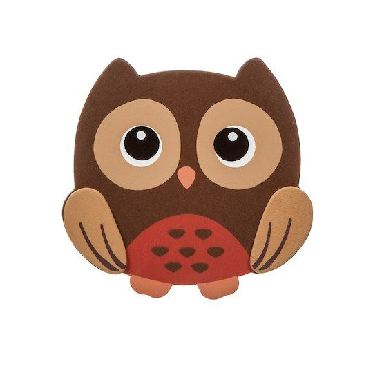 Painted Woodland Owl Cutout 3 Inches By Midwest Products