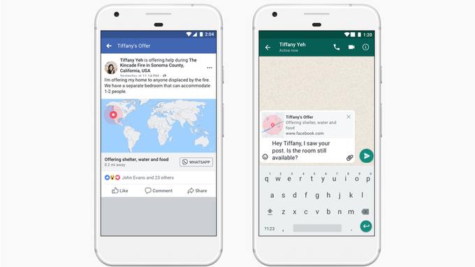 Facebook updates crisis response tools, adds WhatsApp