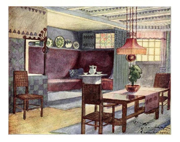 An English Arts Crafts Dining Room 1912 Craftsman Home Decor