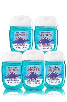Santa Saurus 5 Pack Pocketbac Sanitizers Soap Sanitizer Bath