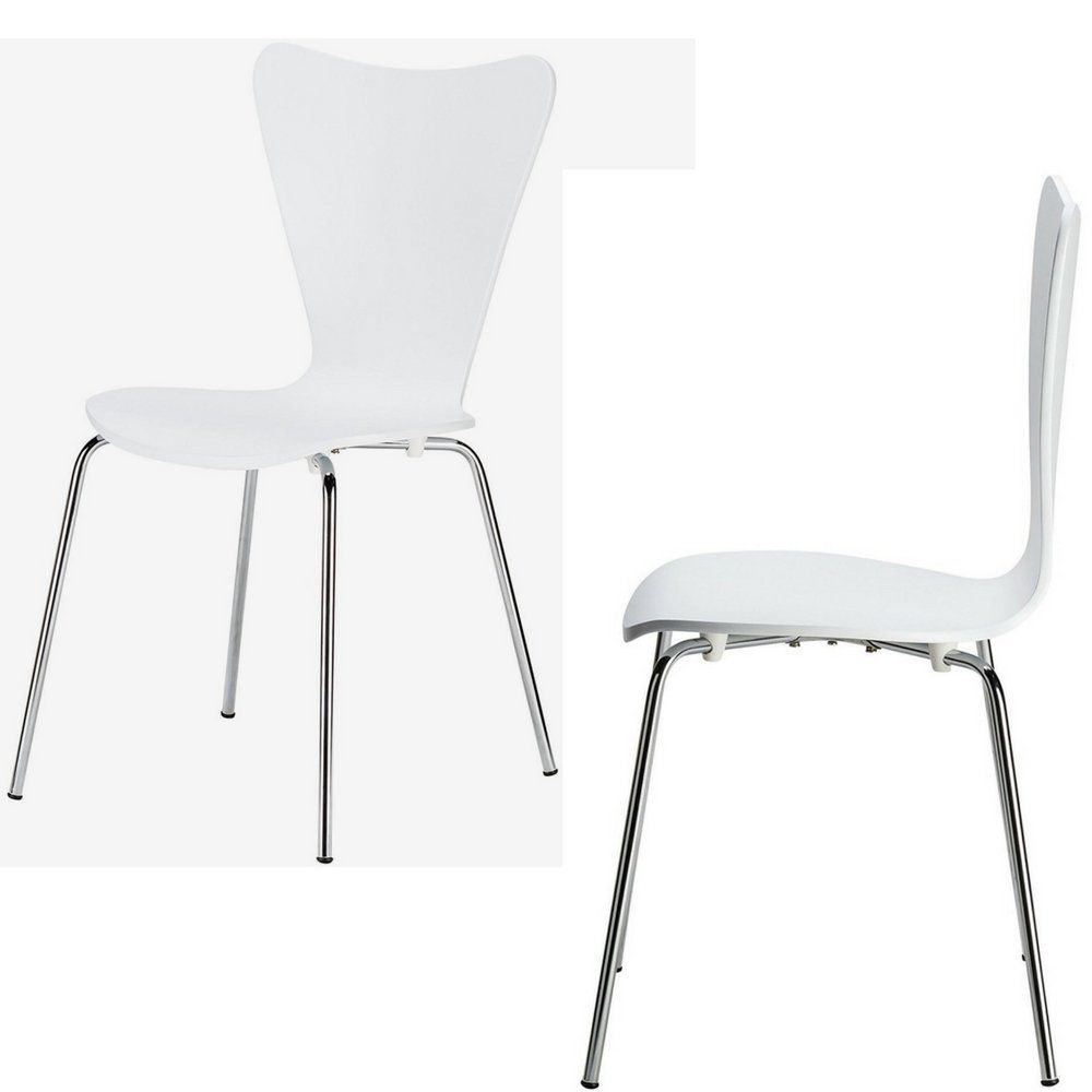 Modern Dining Chairs Set Of 4 With Chrome Legs Contemporary Side