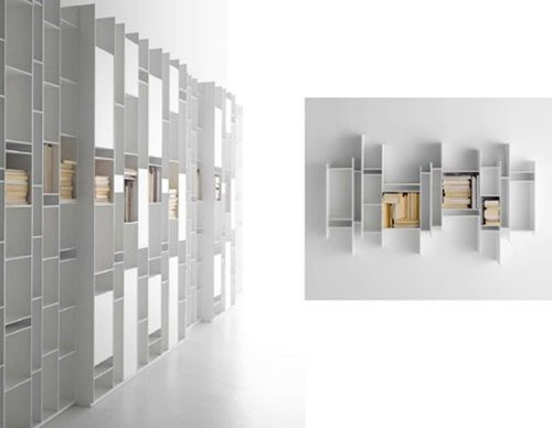 Storage Systems Modular Wall Furniture By MDF Italia Bookshelves