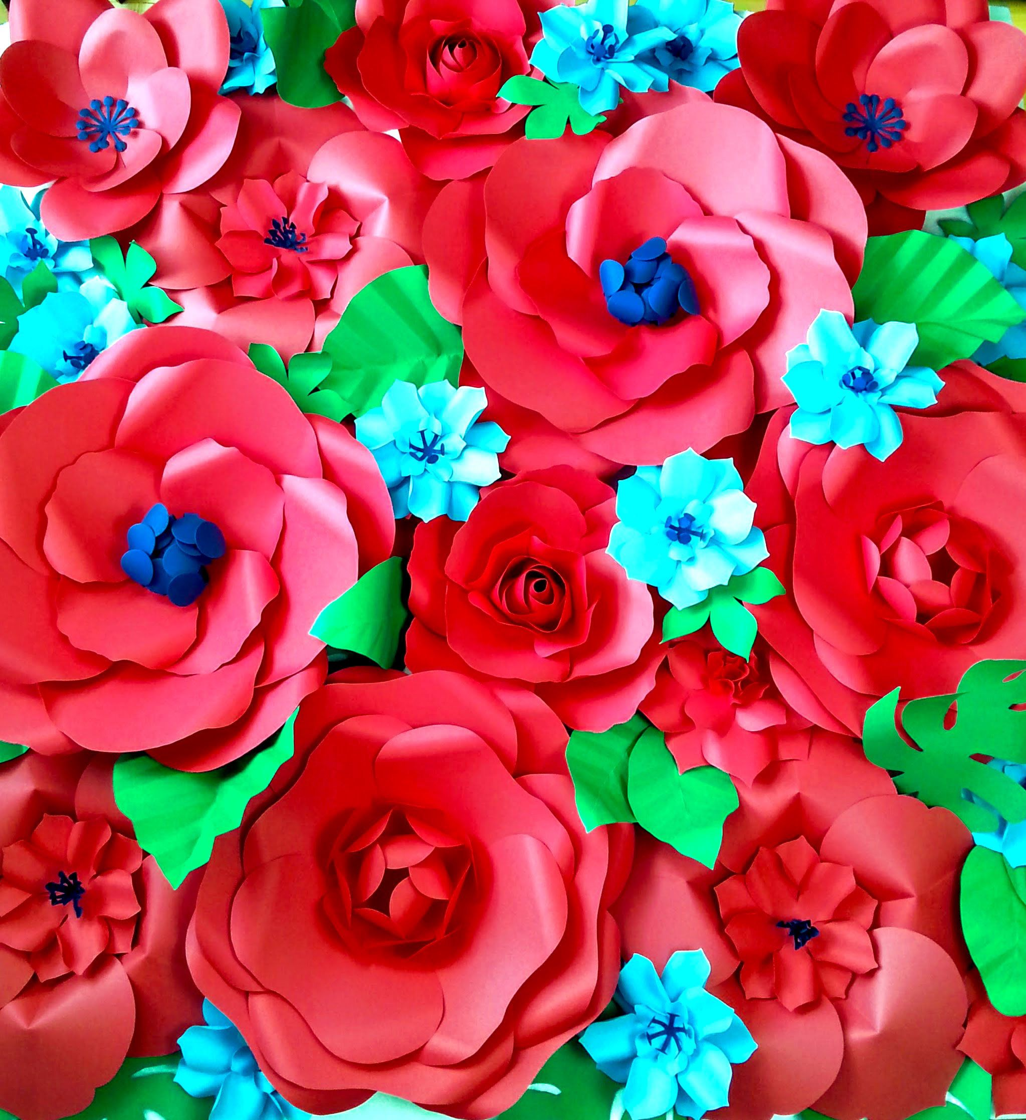 Extra Large Paper Flower Backdrop Custom Colors By Paperandpeony