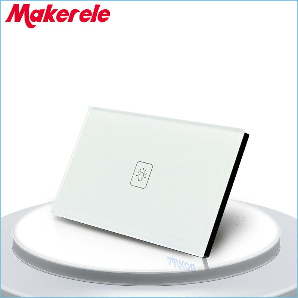 Touch Dimmer Switch Us Standard Dimmer Touch Sensor Switche 1 Gang 1 Way White Glass Panel Led Wall Light Glass Panels Light Accessories Light Switch