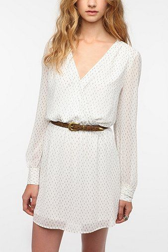 Coincidence & Chance Chiffon Surplice Dress $69