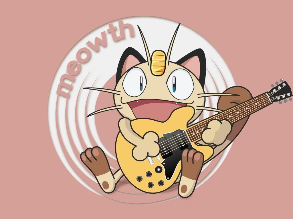 Pokemon Guitar Meowth Normal Pokemon 248152 Pokemon Anime All Hd Wallpaper