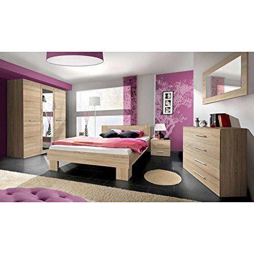 chambre coucher complte lucca design laqu brillant noir et blanc lit 160x200 table de - Chambre A Coucher Blanc Laque Brillant