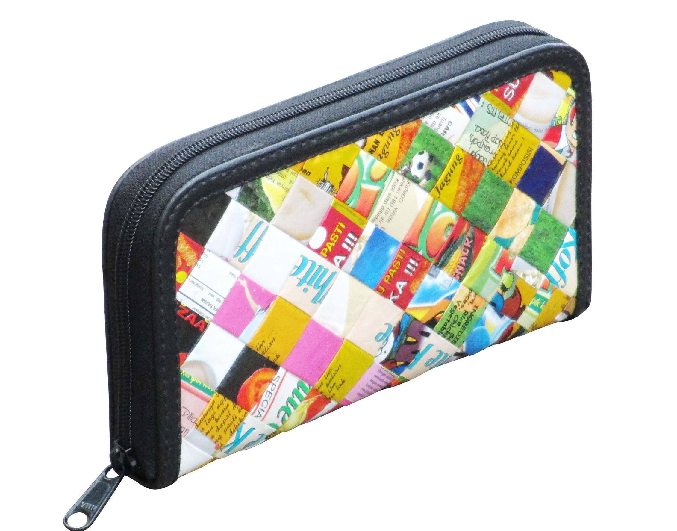 Medium zip wallet made from candy wrappers - FREE SHIPPING