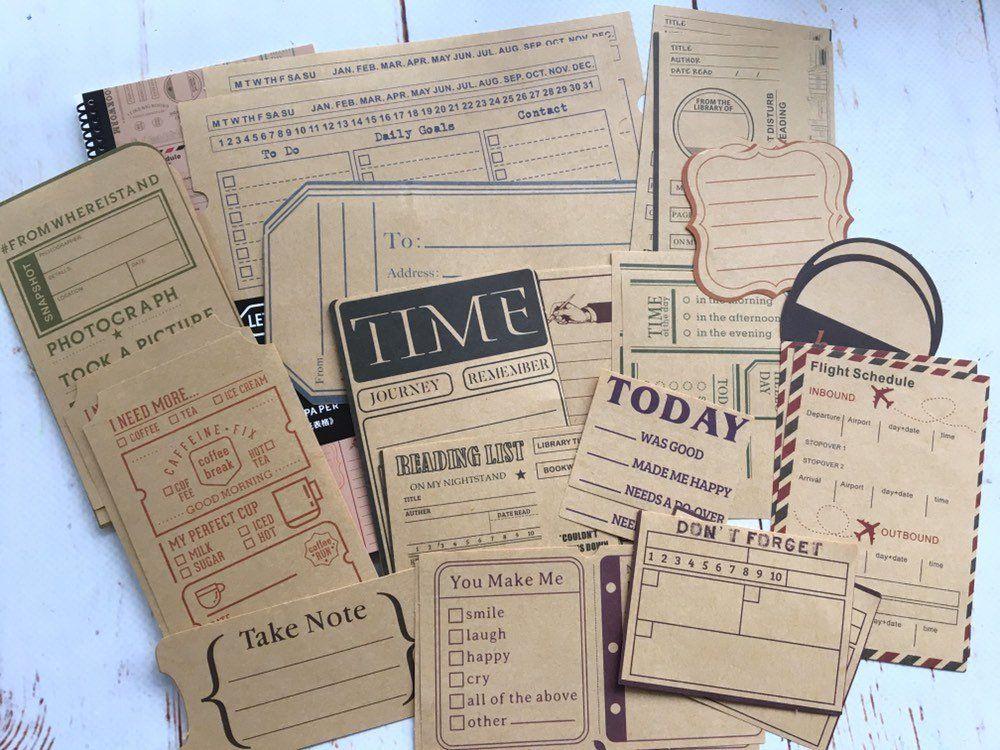 Travel Collage Notebook Paper Set Bullet Journal Planner Travel Collage Planner Bullet Journal Planner Vintage