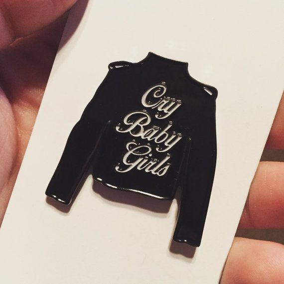 Seconds W Minor Flaws Cry Baby Girls Leather Jacket Enamel Pin Leather Jacket Girl Leather Jacket Cry Baby