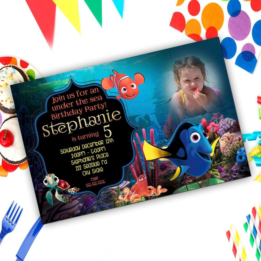 Finding Dory - Finding Nemo Birthday Party Invitation-SET OF 10 ...