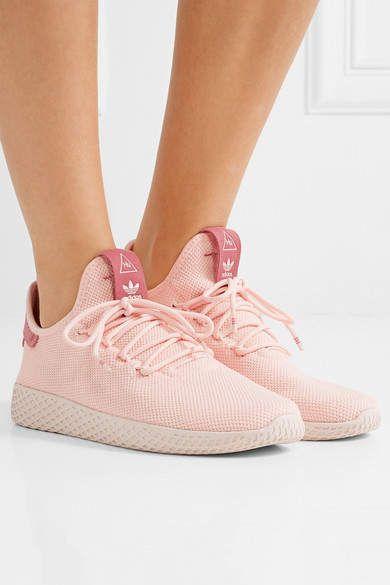 5bc6120b8 adidas Originals - Pharrell Williams Tennis Hu Primeknit Sneakers - Pastel  pink