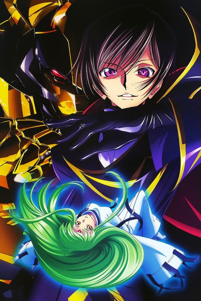 Code Geass Zero Lelouch Japanese Anime Series Poster