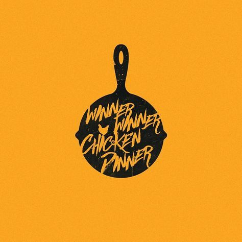 "Apparel, design. Nerdy stuff. on Instagram: ""www.teepublic.com/user/badbox Winner Winner Chicken Dinner #illustrator #minimal #tshirt #flat #design #geek #nerd #symbol #logo #teepublic…"""