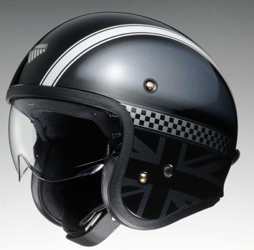 Shoei Jo J O Hawker Black Open Face Motorcycle Cruiser Scooter