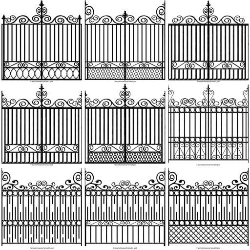 different plans for iron fencing …   Wrought iron fences ...