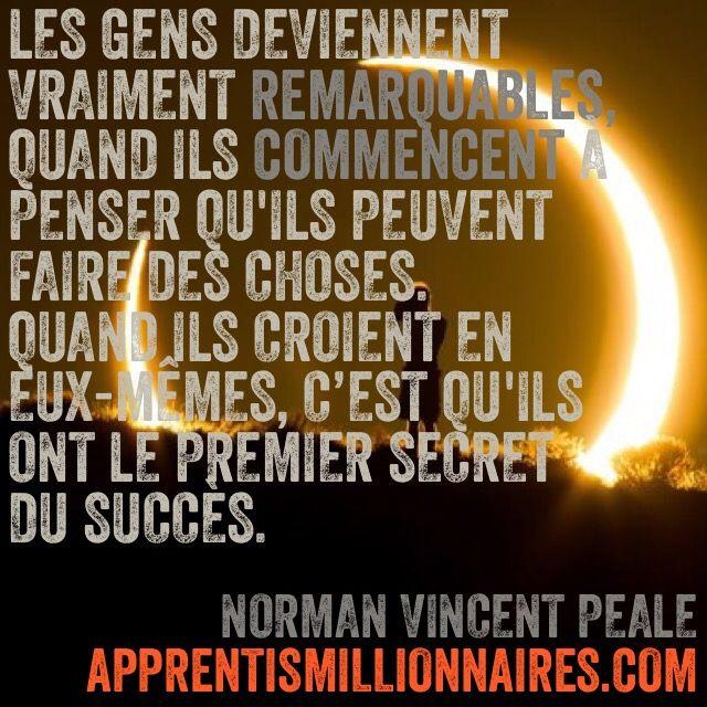 Citation Norman Vincent Peale - http://apprentismillionnaires.com/citations-fond-ecran/citation-norman-vincent-peale/