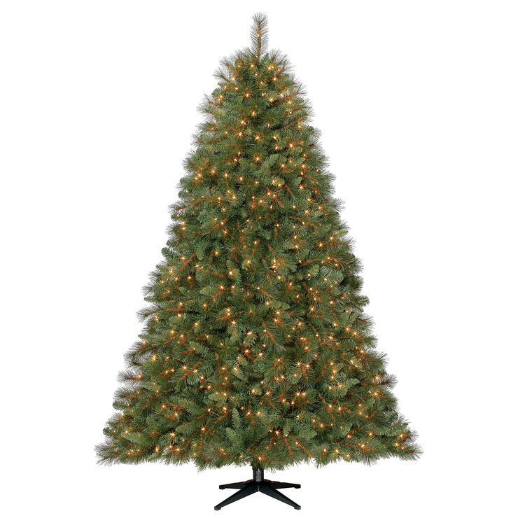 7 5 Ft Pre Lit Sutton Spruce Christmas Tree With 1000 Clear Lights