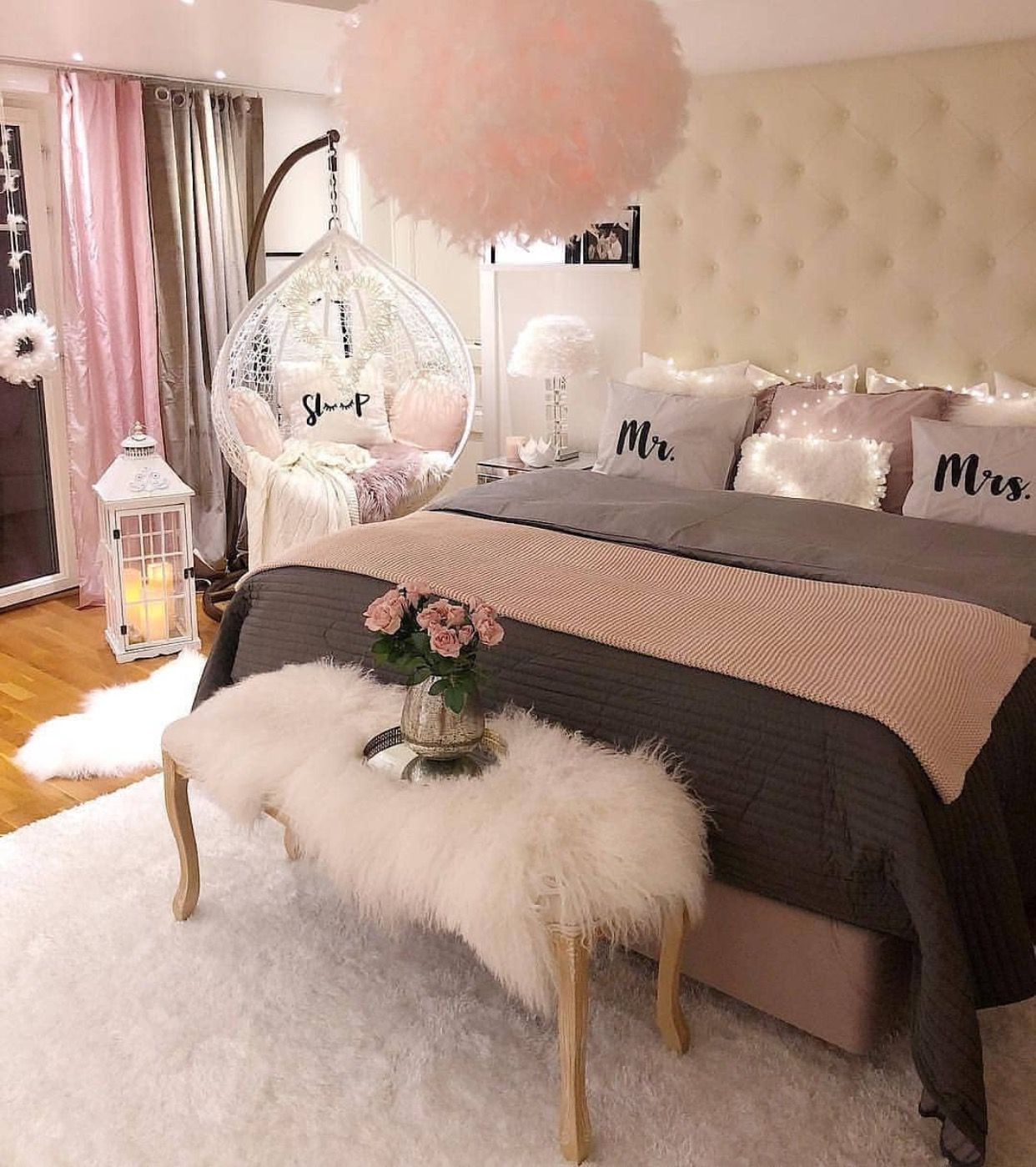 Bedroom Ideas ديكور وتصاميم غرف نوم بنات Bedroomideas Apartmentdecor Bedroomdesign Bedroomdecor Pinkbed Home Decor Bedroom Pink Bedroom Decor Home Decor