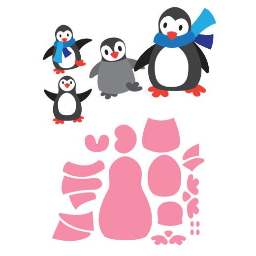 marianne design collectables cutting dies eline s penguins col1416