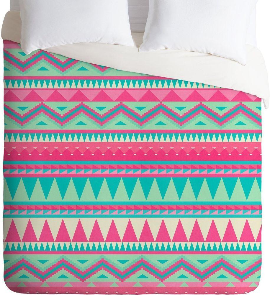 DENY Designs Iveta Abolina Pink Navajo Lightweight Duvet Cover, Queen, Queen #DENYDesigns