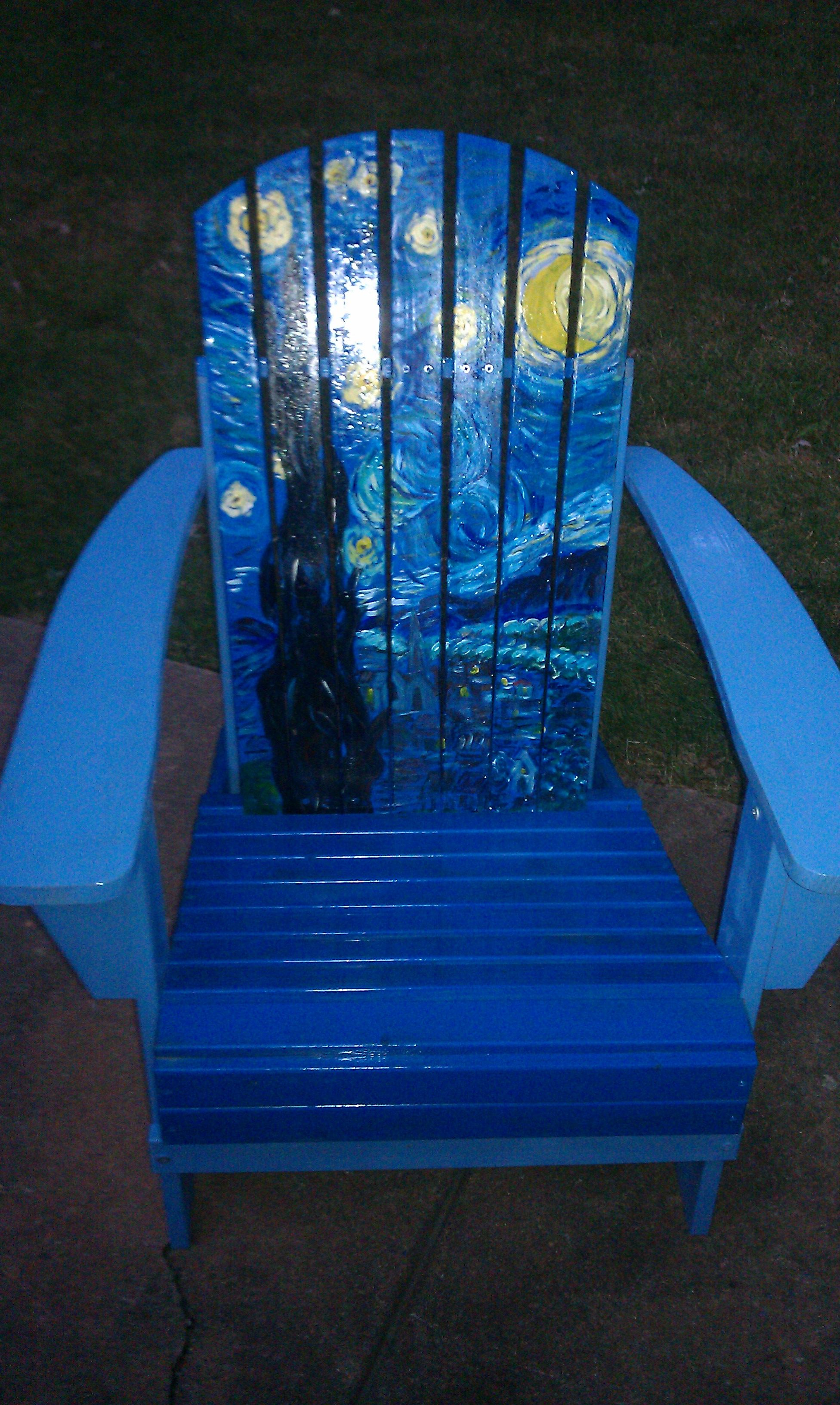 Starry Night Van Gough Adirondack Chairs