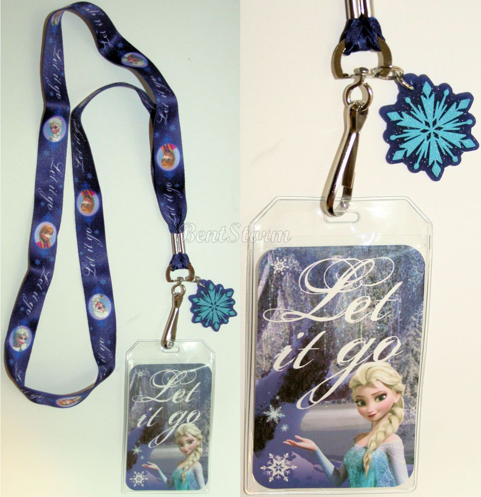 Disney Frozen Elsa and Anna Coin Purse and Character Lanyard ID Holder Set
