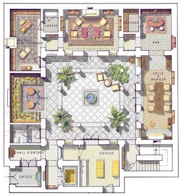 Resultado De Imagen De Moroccan Riad Floor Plans Planos Ideas Y