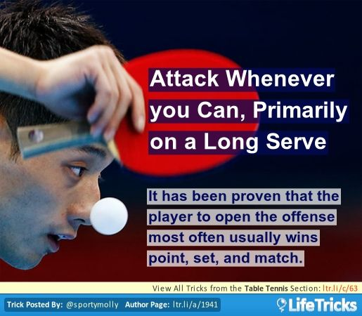 Table Tennis - Attack Whenever you Can, Primarily on a Long Serve