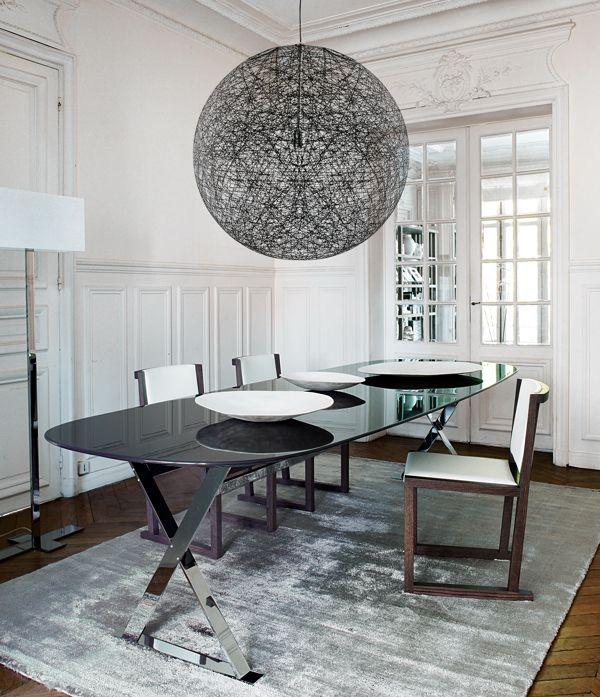 vivre contemporain exemple de dco salle manger ultra design avec une suspension en - Deco Salle A Manger Contemporaine