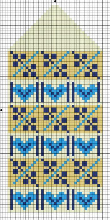 mitten pattern | punto cruz | Pinterest | Guantes, Tejido y Mochilas