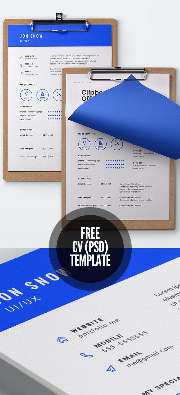 Free Cv Template  Print Ready Designs    Free Cv