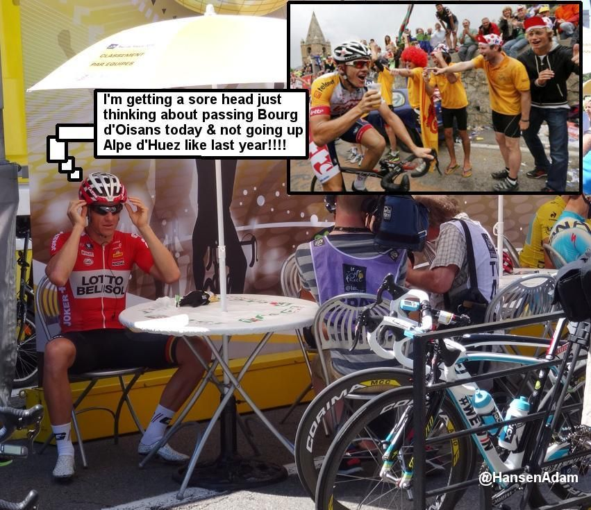 Adam Hansen: The 8th last day in the Tour de France...