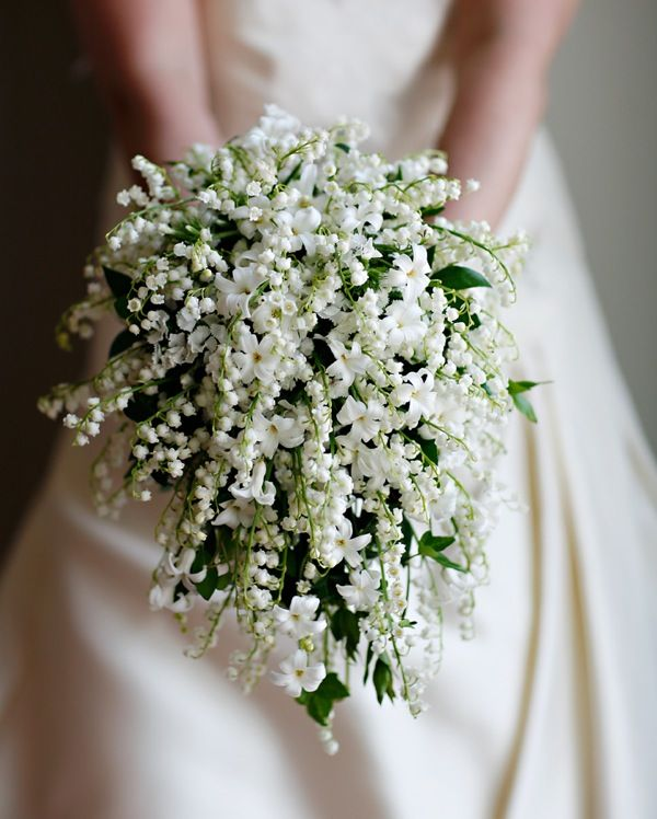 Chic White Wedding Theme: Summer Bridal Flower Bouquet! Lily Of The Valley Bouquet
