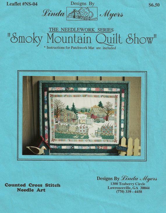 Counted Cross Stitch Chart Smoky Mountain by PointedNeedleDestash ... : smoky mountain quilt show - Adamdwight.com